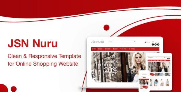 JSN Nuru - Responsive Joomla Template for Online Shopping Website