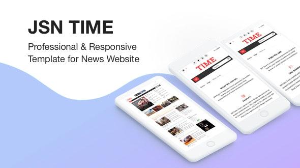 JSN Time - Professional & Responsive Joomla Template for News Website - News / Editorial Blog / Magazine