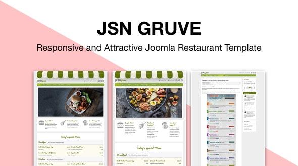 JSN Gruve - Responsive and Attractive Joomla Restaurant Template - Joomla CMS Themes