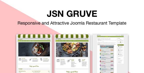 JSN Gruve - Responsive and Attractive Joomla Restaurant Template