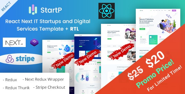 StartP - React Next IT Startups and Digital Services
