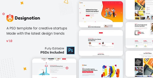 Designotion - Agency PSD Template - Photoshop UI Templates