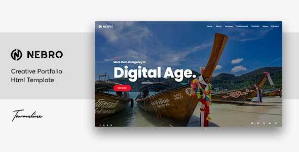 Nebro -  A Creative Digital & Marketing Agency OnePage Template - Marketing Corporate