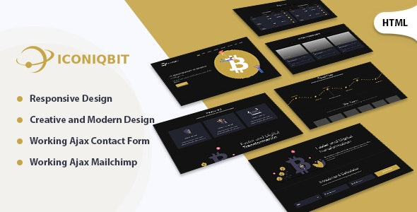 Iconiqbit | Cryptocurrency HTML Template - Technology Site Templates