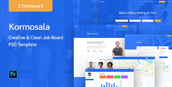 Kormosala - Job Board PSD Template - Corporate Photoshop