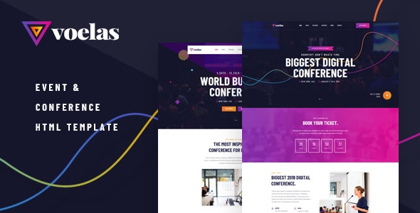 Voelas - Event & Conference HTML Template - Events Entertainment