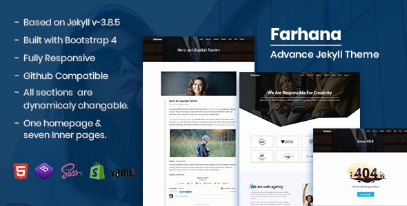 Farhana - Creative Agency Advance Jekyll Theme - Jekyll Static Site Generators