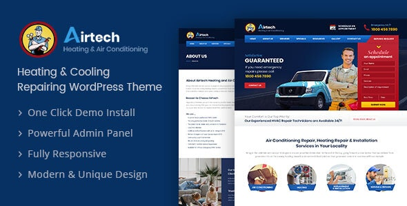 Airtech - Plumber WordPress theme - WordPress
