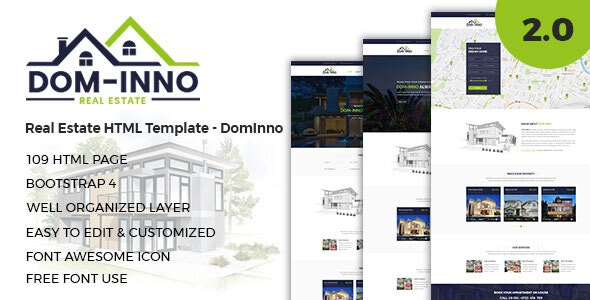 Real Estate HTML Template - Dominno - Business Corporate