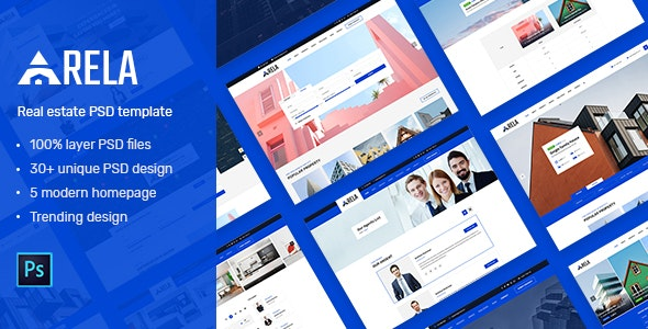Arela | Real Estate PSD Template - Corporate PSD Templates