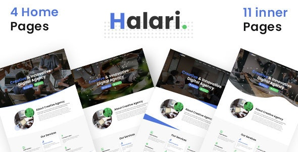 Halari - Multi Purpose Parallax Business Landing Page PSD Template - Business Corporate