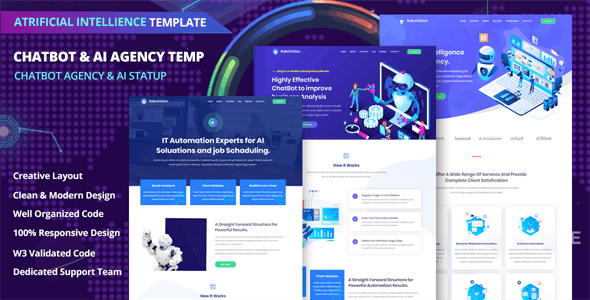 Chatbot HTML Website Templates from ThemeForest