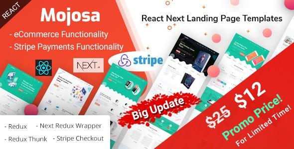 Mojosa - React Next Landing Page Templates by EnvyTheme
