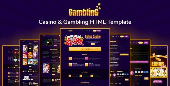 Gambling- Casino & Gambling HTML Template - Entertainment Site Templates