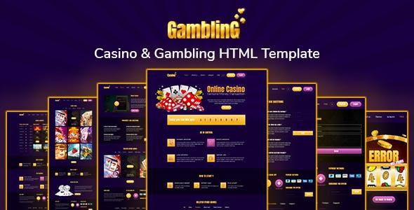 Gambling- Casino & Gambling HTML Template