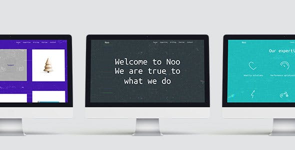 Noo – Glitchy Experimental One-Page Template