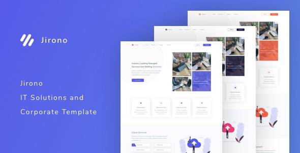 Jirono - IT Solutions and Corporate Template - Business Corporate