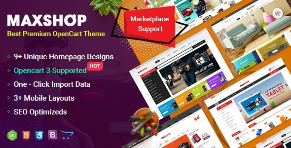 MaxShop - Fastest & Responsive Multipurpose OpenCart 3 & 2 3
