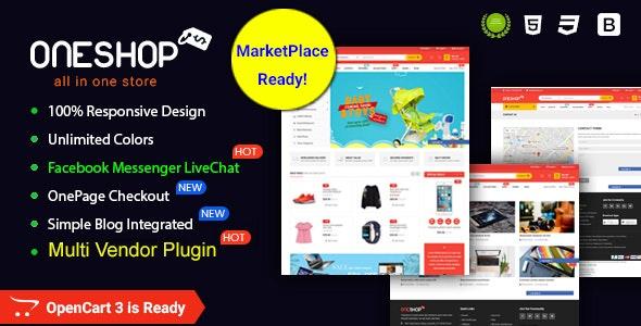 OneShop - Drag & Drop Muti-vendor & Multipurpose Responsive