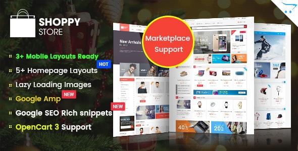 ShoppyStore - Responsive Multipurpose Marketplace OpenCart 3