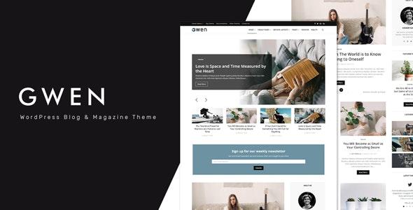 Gwen - Creative Personal WordPress Blog Theme - Personal Blog / Magazine