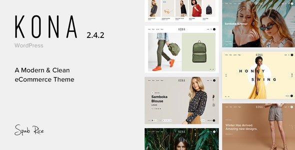 Kona – Modern & Clean eCommerce WordPress Theme