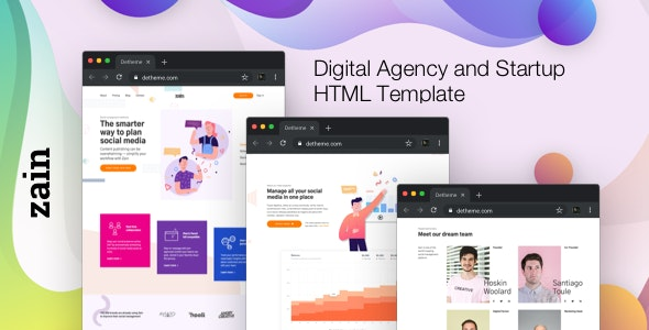 Zain - Digital Agency and Startup HTML Template - Business Corporate