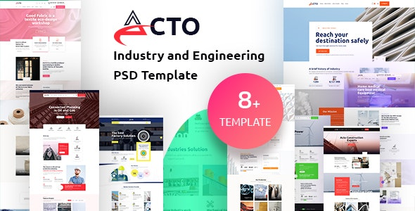 Acto - Industry and Engineering PSD Template - Corporate Photoshop