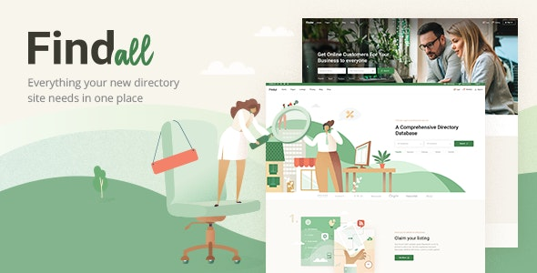 FindAll - Business Directory Theme - Directory & Listings Corporate