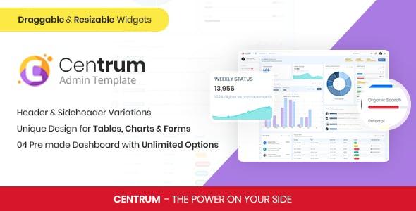 Centrum - Responsive Admin Template