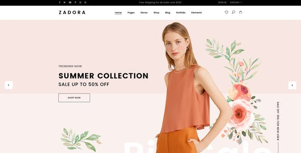 Zadora - Clean, Minimal WooCommerce WordPress Theme