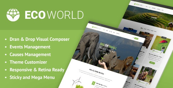 Eco World - Nature and Environmental WordPress Theme - Environmental Nonprofit