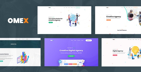 Omex - Startup and SaaS Template - Business Corporate