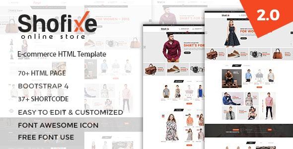 Shofixe - Fashion HTML Template - Fashion Retail