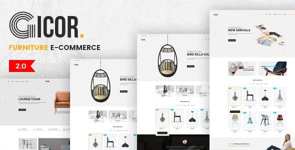 Gicor - Furniture eCommerce Template
