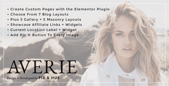 Averie - A Blog & Shop Theme - Blog / Magazine WordPress