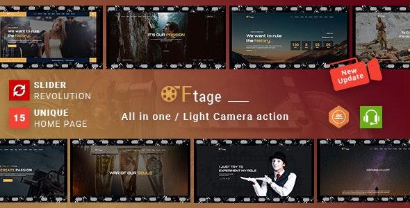 Movie Production & Film Studio WordPress Theme - Ftage - Film & TV Entertainment