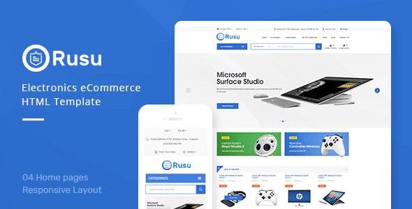 Rusu - Electronics eCommerce HTML Template - Shopping Retail