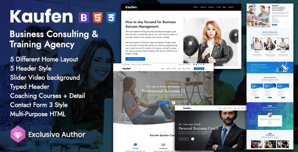 Kaufen - Training Coaching Consulting - Corporate Site Templates