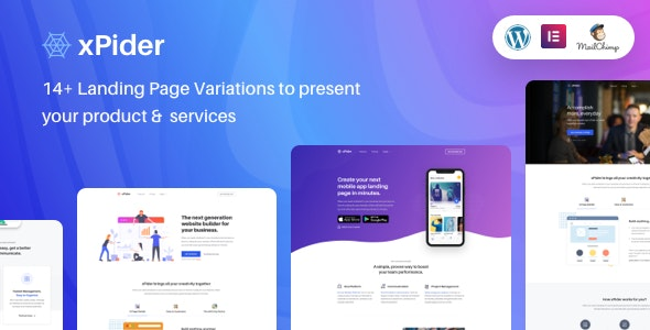 xPider | WordPress App Landing Page - Software Technology