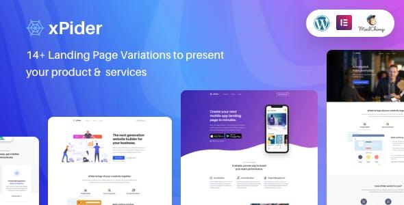 xPider   WordPress App Landing Page