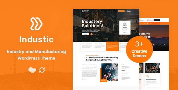 Industic - Factory and Manufacturing WordPress Theme - Business Corporate
