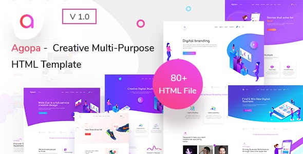 Agopa - Creative Multipurpose HTML Template