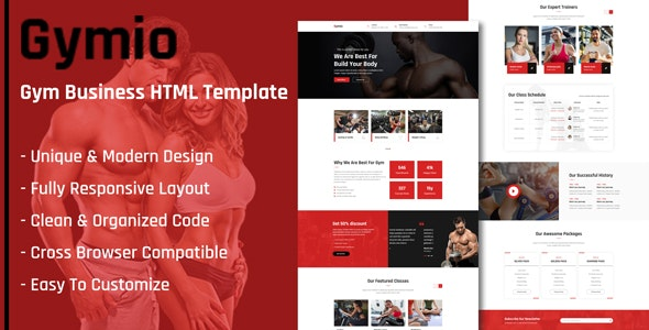 Gymio - GYM HTML Template - Health & Beauty Retail