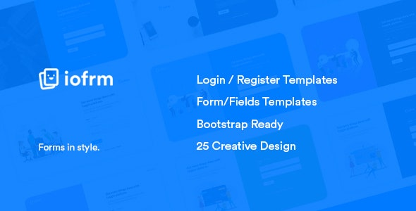 Iofrm - Login and Register Form Templates by brandio