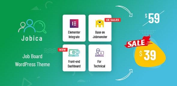 Jobica - Elementor IT Job Board WordPress Theme - Directory & Listings Corporate