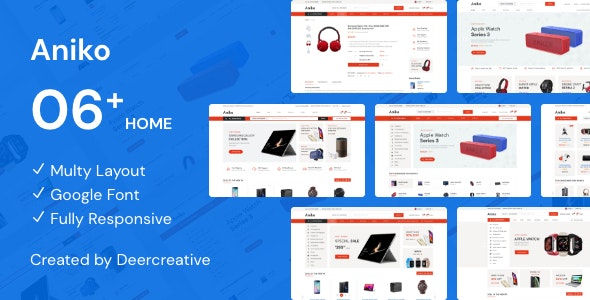 Aniko | Multipurpose Electronics eCommerce PSD - Electronics Technology