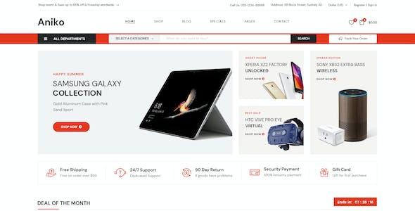 Aniko | Multipurpose Electronics eCommerce PSD