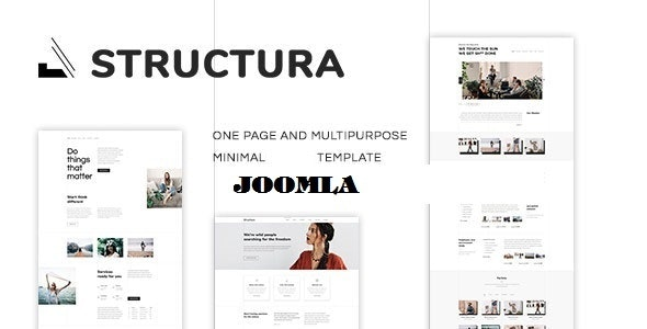 Structura - Minimal One Page Joomla Template - Business Corporate