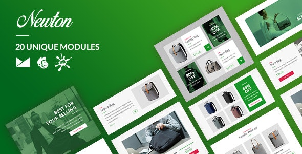Newton Email-Template + Online Builder - Newsletters Email Templates